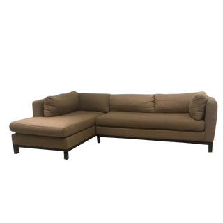 Crate & Barrel Sectional Sofa For Sale