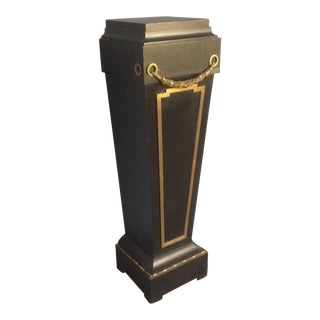 Bronze Mounted Black Neoclassical Pedestal