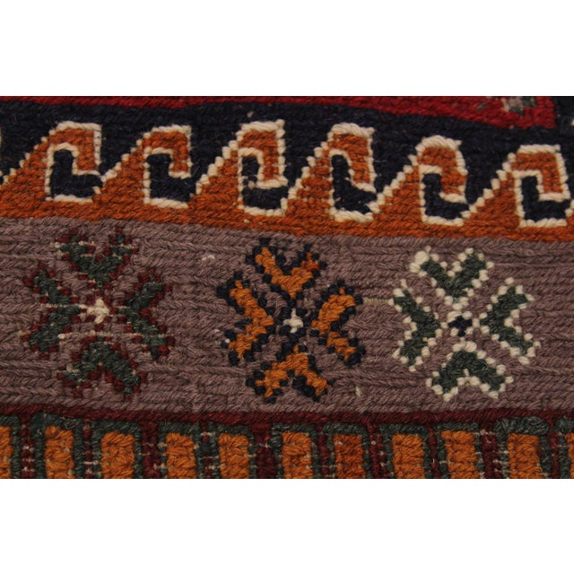 """Antique Tribal Soumakh Sal Wool Rug - 6'2"""" X 8' For Sale In New York - Image 6 of 9"""