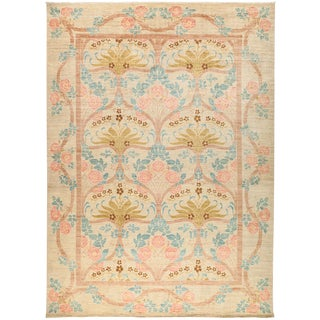 "New Arts & Crafts Hand-Knotted Rug - 9'10"" X 13'5"" For Sale"
