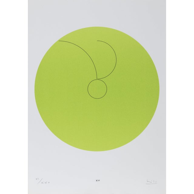 """Max Bill, Constellations Xv"""", Geometric Lithograph For Sale"""