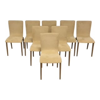 Ligne Roset Ultra Suede Dining Chairs - Set of 8 For Sale