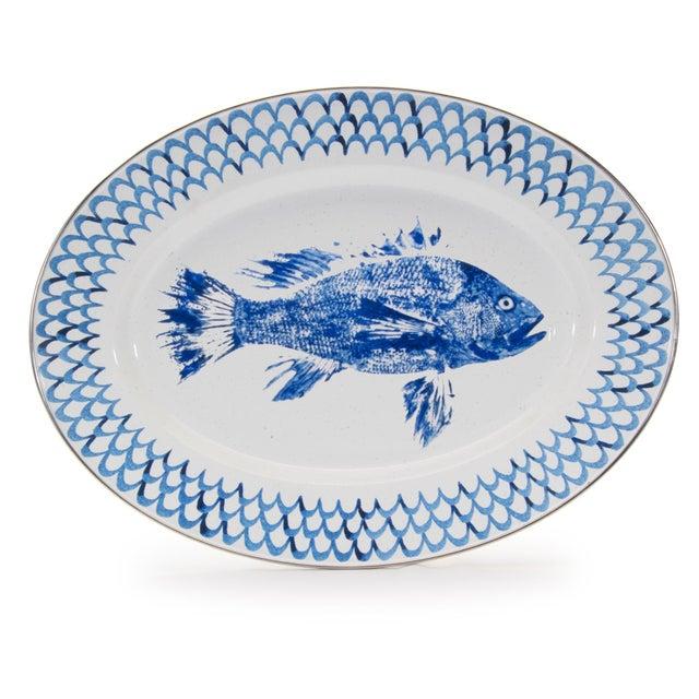 Modern Oval Platter Fish Camp For Sale - Image 3 of 3