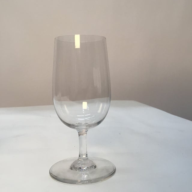 """Set of 4 beautiful Baccarat crystal glasses in perfect condition. """"Baccarat France"""" etched on bottom of each stem. Circa..."""