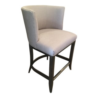 Kravet Monaco Grey Linen Counter Stool For Sale