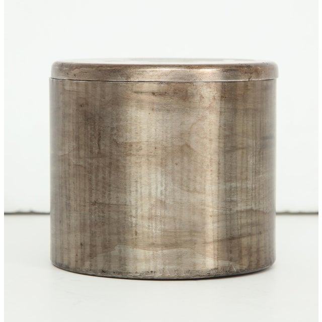 Brutalist Hammered Steel Canister by Philolaos For Sale - Image 3 of 8