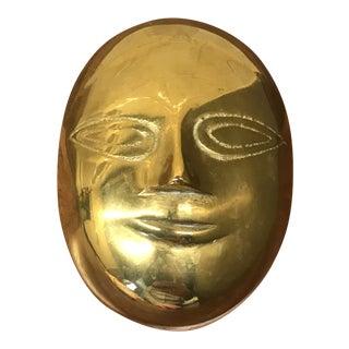 Mid-Century Brass Head Shape Box For Sale