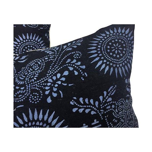 Black & Blue Indigo Batik Pillows - Pair - Image 4 of 5