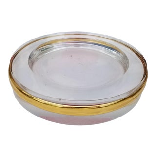1970s Vintage Brass and Lucite Dish or Ashtray For Sale