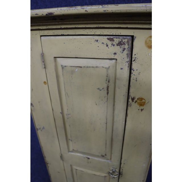 Habersham Rustic Country Style Painted Pantry Cabinet For Sale - Image 4 of 8