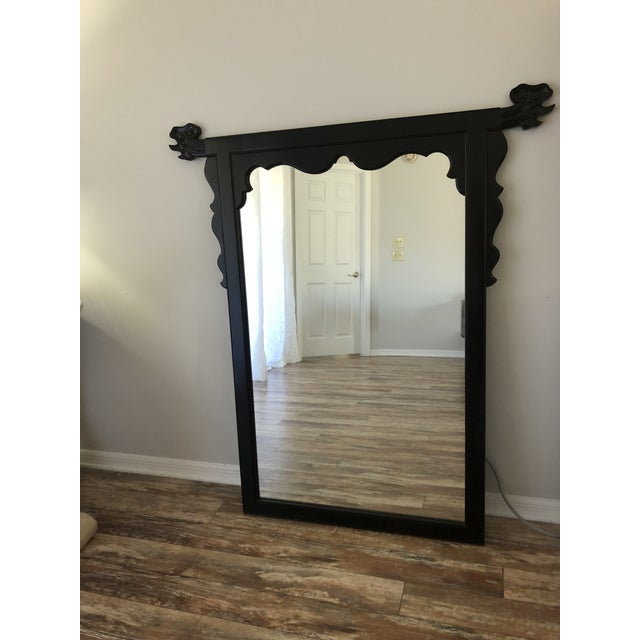 Art Nouveau Lacquered Chinoiserie Style Mirror by Century Furniture For Sale - Image 3 of 5