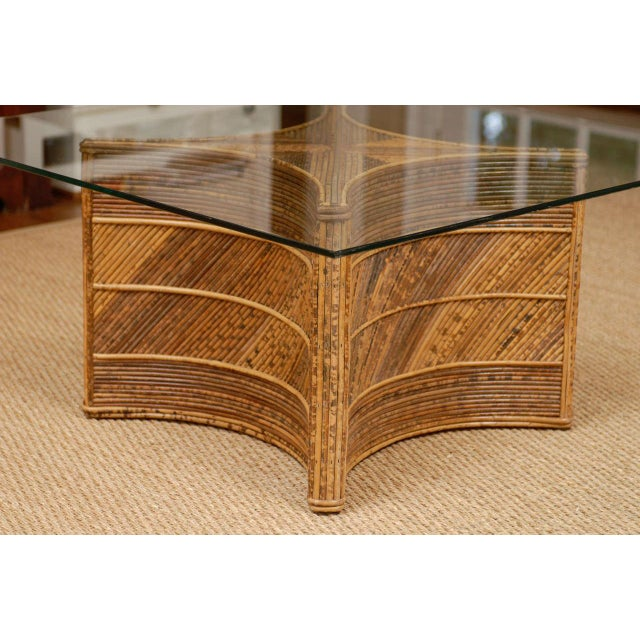 1970s Elegant Vintage Bamboo Coffee Table For Sale - Image 5 of 11