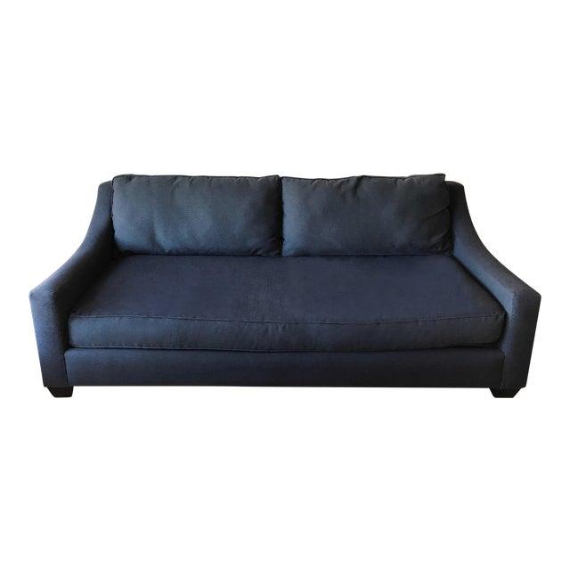 Navy Blue Custom Sofa - Image 1 of 8