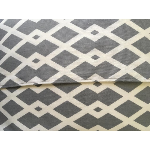 Gray Geometric Pillow Cases - A Pair For Sale In Houston - Image 6 of 8