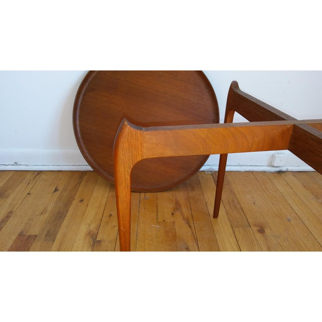 1950s Fritz Hansen Teak Tray Table For Sale - Image 5 of 11