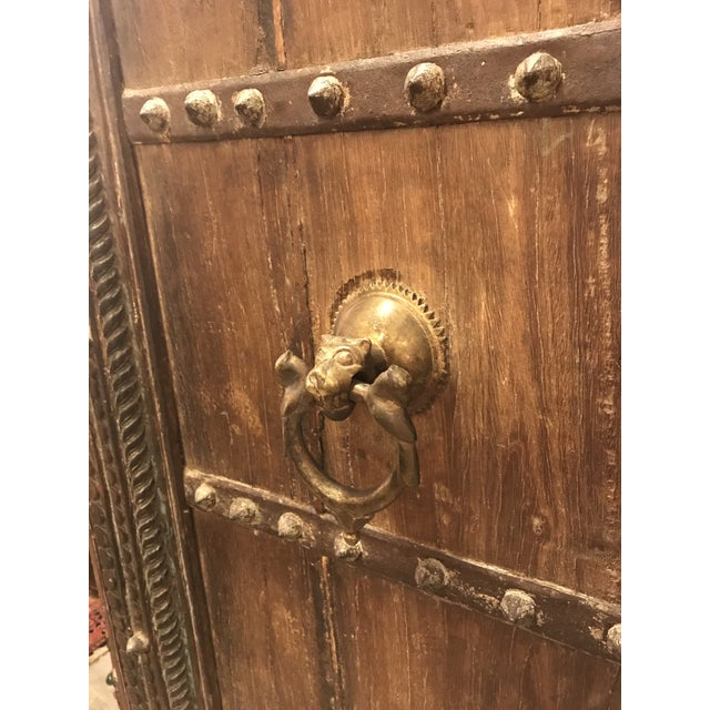 Gold Original Antique Salvaged Hand-Made Indian Doors For Sale - Image 8 of 12