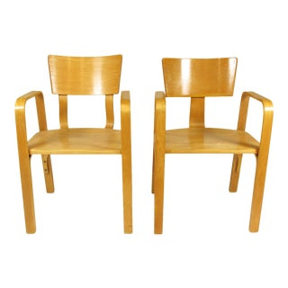 1960s Thonet Bentwood Arm Chairs - a Pair For Sale