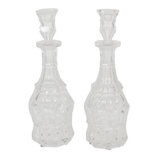 A Pair of 19th Century English Traditional Baccarat Crystal Liquor Decanters For Sale