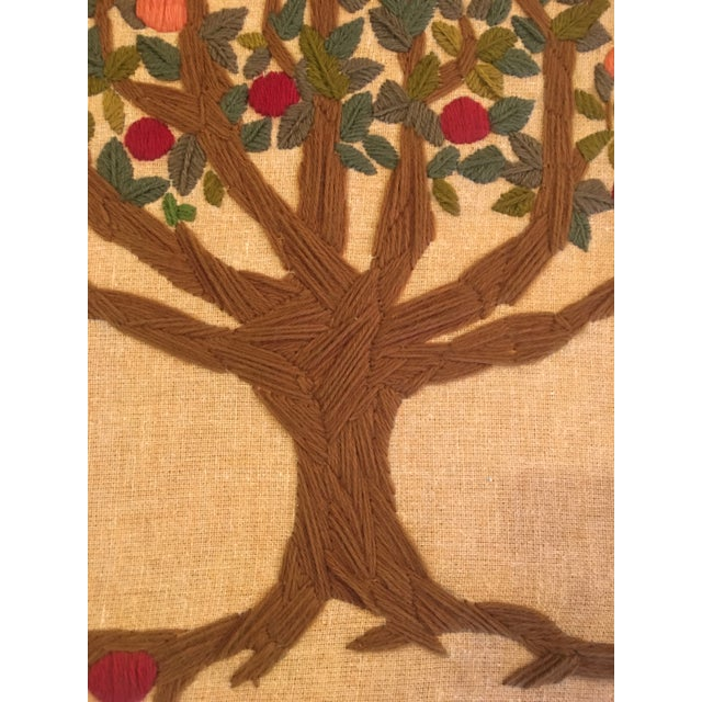 Mid-Century Modern Vintage Tree of Life Tapestry For Sale - Image 3 of 6