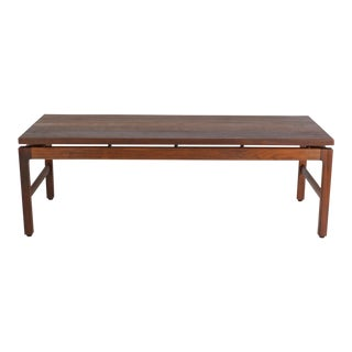 Gunlocke Mid-Century Modern Walnut Coffee Table For Sale