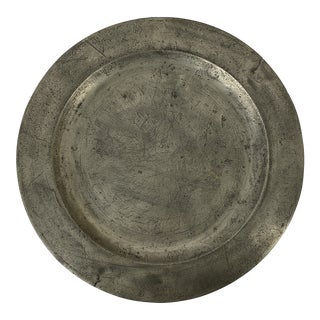 English Pewter Charger For Sale
