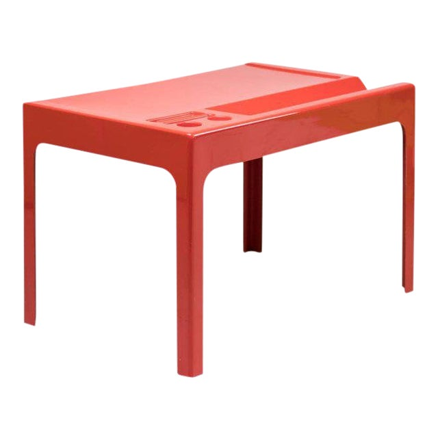 Red Fiberglass Desk by Marc Berthier For Sale