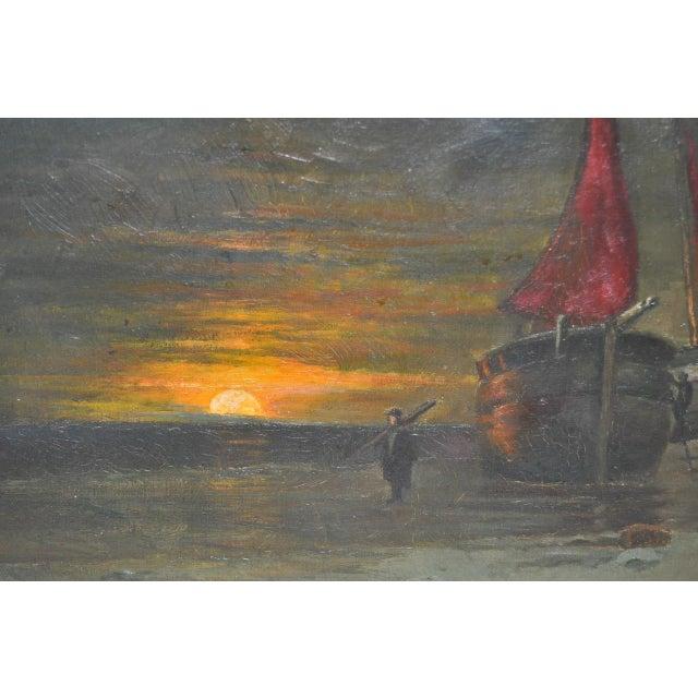 Impressionism Antique Dutch Landscape Oil Painting For Sale - Image 3 of 7