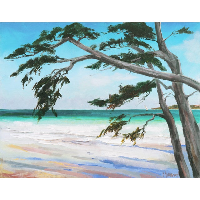 'Carmel Beach, Low Tide' by Kathleen Murray, California Woman Artist For Sale - Image 9 of 9