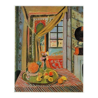 """Henri Matisse Vintage 1973 Fauvism Lithograph Print """" Interior With Phonograph """" 1924 For Sale"""