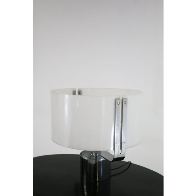 Silver 70s Table Lamp in Plexiglass and Chrome Steel Jacques Quinet For Sale - Image 8 of 8