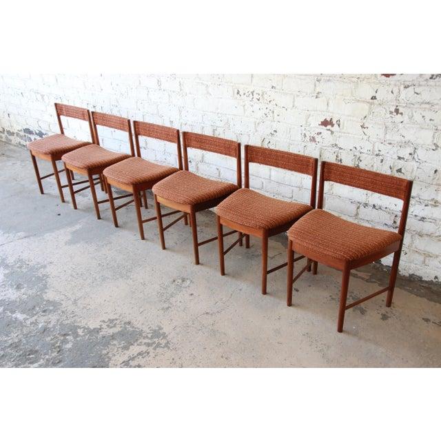 G Plan Mid Century Modern Teak Wedge Shaped Dining Chairs Set Of 6