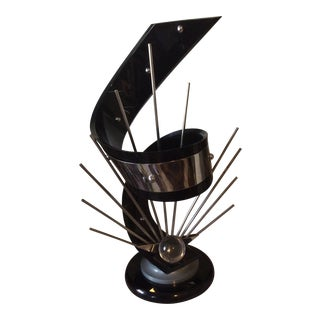 1970s Vintage Sholmi Haziza Mid-Century Modern Lucite and Chrome Table Sculpture For Sale