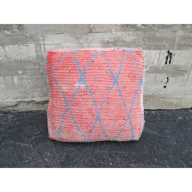Vintage Moroccan Pink Floor Pillow - Image 2 of 3