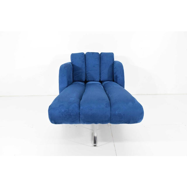 1970s Vladimir Kagan Deco Chaise For Sale In Dallas - Image 6 of 12