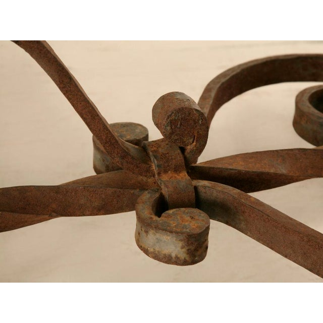 Metal Outstanding Vintage French '40s Iron & Stone Console/Sofa Table For Sale - Image 7 of 9