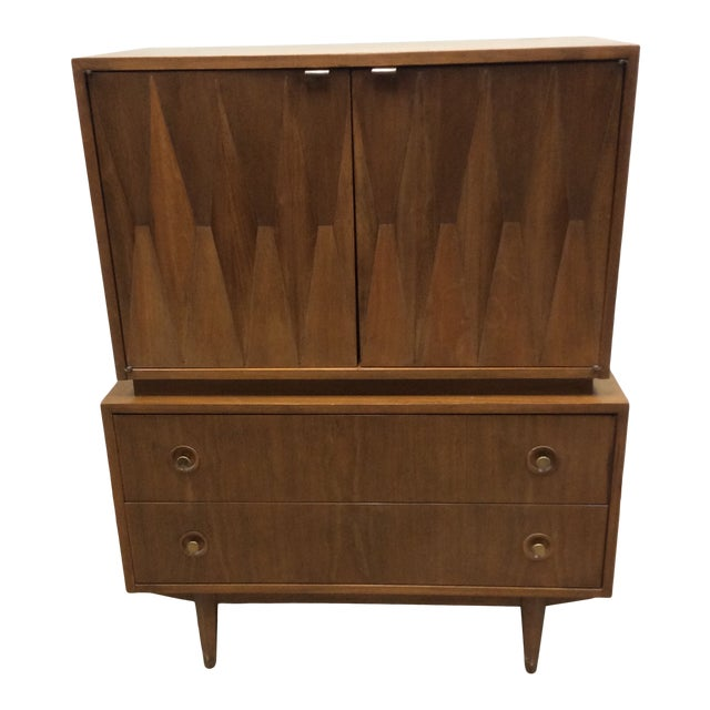 Mid Century Modern American of Martinsville Atomic Age Chest of Drawers For Sale