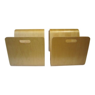 1960s Scandinavian Plycraft Style End Tables - a Pair For Sale