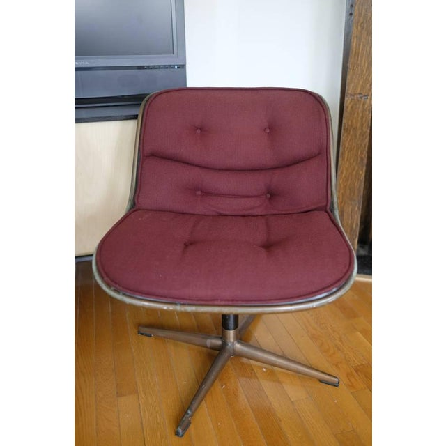 Charles Pollock Knoll Armless 4 Star Base Side Chairs- Set of 3 - Image 3 of 10