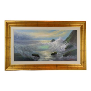 Pasargad DC Ocean Signed Oil Painting on Canvas For Sale