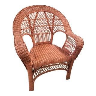 Vintage Pink Wicker Chair