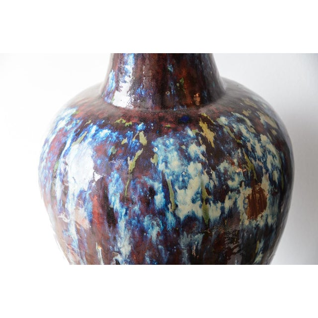 Antique 19th C. Asian Glazed Ceramic Vases - a Pair For Sale - Image 4 of 8