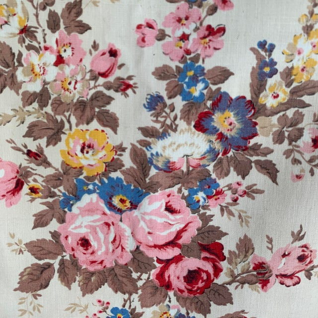 Vintage French Shabby Chic Roses Pattern Curtain For Sale - Image 10 of 10