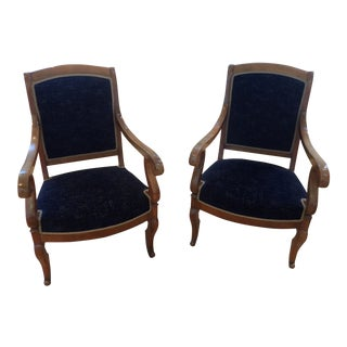 Pair of French Antique Directorie Chairs Circa 1890
