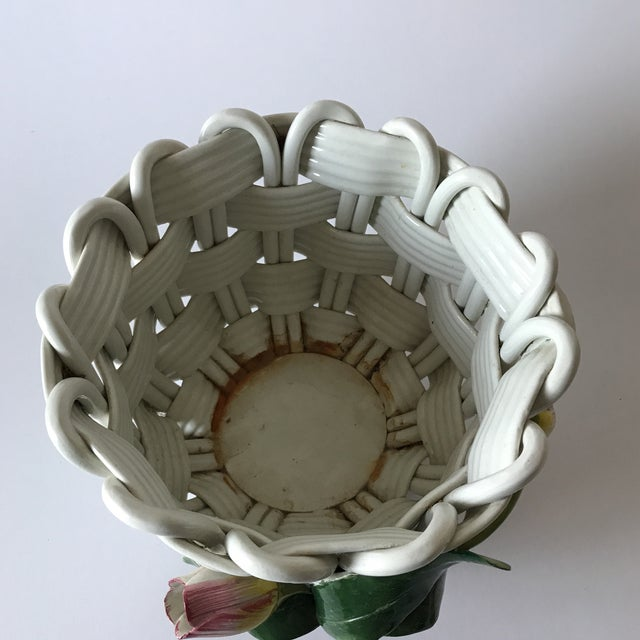 Majolica Basketweave Tulip Planter - Image 7 of 10
