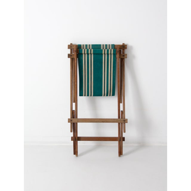 Vintage American Deck Chair For Sale - Image 9 of 9