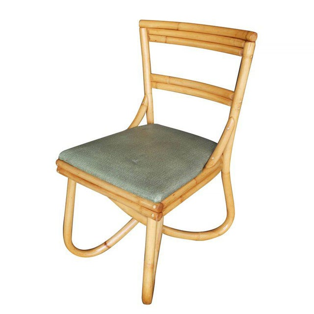 This item 25% off in celebration of Harveys on Beverly's 50th Anniversary! Vintage loop leg rattan dining room chair, set...