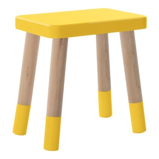 Tippy Toe Kids Chair in Maple and Yellow Finish For Sale