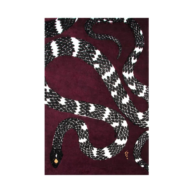 Not Yet Made - Made To Order Snake 8 Rug From Covet Paris For Sale - Image 5 of 5