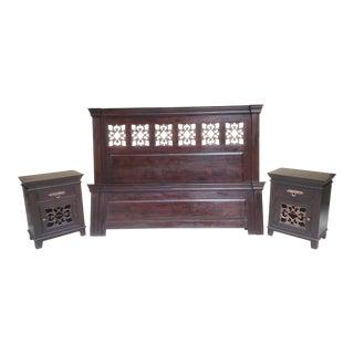 Asian-Indian King Bedroom Set For Sale