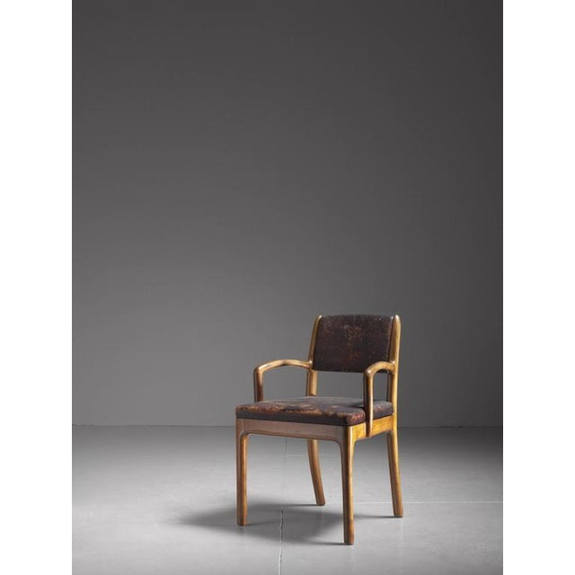 This 1938 armchair is a fine example of the early American Arts and Crafts revival movement and signed underneath by Devon...